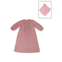 Gamis Brokat Pink