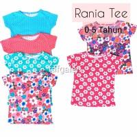 TERLARIS Rania Tee 0-5 Thn Baju Atasan Anak Perempuan Bahan Kaos Katun