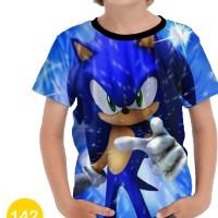 Baju Sonic the Hedgehog 3D Kaos Kartun Series Anak #142