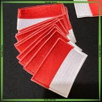 Badge Bed Emblem Logo Bordir Bendera Merah Putih 3x5 cm untuk Seragam