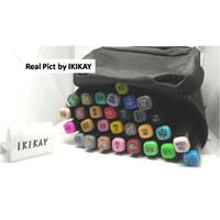 Spidol warna double Twin Pen Marker Art Drawing 30 warna