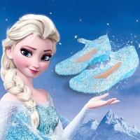 Sepatu Princess ELSA Frozen Jelly Shoes Sepatu Kaca ELSA ANNA IMPORT