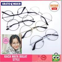 Kacamata Bulat Fashion Pria Wanita Style Korea Bingkai Bulat Murah