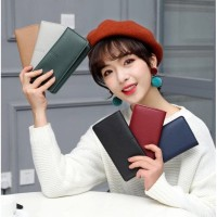 Dompet Wanita Style Korea Dompet Lipat Dompet Panjang Polos