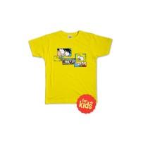 T-Shirt Si Juki x Spongebob Yellow Puzzle Kids