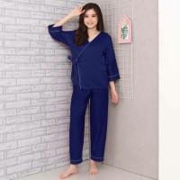 Piyama polos baju tidur wanita kimono Bahan Katun Jepang/Dingin Murah