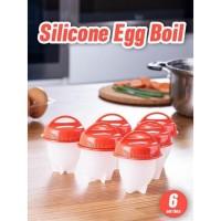 Perlengkapan Dapur Egg Boiler Alat Rebus Telur Silikon Wadah Perebus T