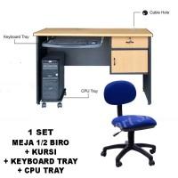 Furniture Kantor 1 Set (Meja dan Kursi Kerja) Murah
