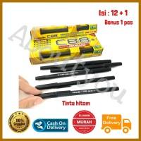 Pulpen STANDARD pen C88 warna HITAM 0.5 mm Castello batang murah