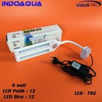 Lampu LED Aquarium Laut Lampu LED Aquascape Lampu Aquarium Jepit 6 wat