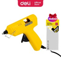 Deli Gun Lem Tembak warna kuning daya listrik 20 watt EA50061