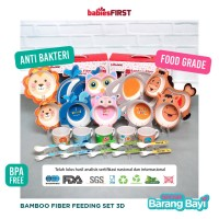 Babiesfirst Bamboo Fiber Kids Feeding Set Animal 3D / Peralatan Makan