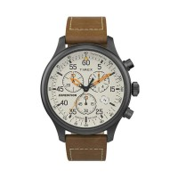Jam Tangan Pria Timex Expedition Gunmetal Cream Chrono TW2T73100