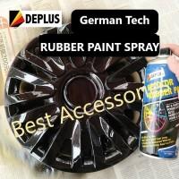 O0360 Rubber Paint Cat Karet Semprot Velg Ban dan Body Mobil Motor - Hitam Glossy