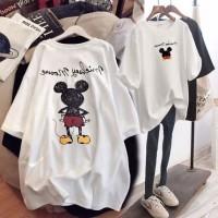 T Shirt Oversized xxl Putih White Mickey Disneyland