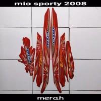 striping sticker lis body mio sporty smile karbu lama 2008 merah