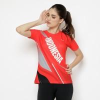 Baju Jersey Wanita Lari Running Polyester DriFit Red JR05