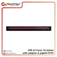 OTB / ODF 24 Cores 1U FC/PC Indoor Fix Pigtails & Adapter