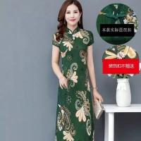 cheongsam big size dress imlek 2020 new high quality