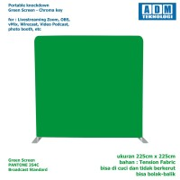 Portable Green Screen for Virtual Studio vMix - Square 225 x 225 cm