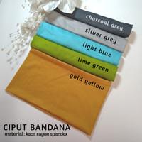 Ciput Bandana Kaos Rayon / dalaman kerudung / inner hijab