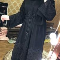 Dress Abaya Hitam Muslim Wanita Hits Ori Dubai Arab