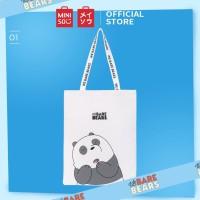 Miniso Official We Bare Bears Shopping Bag/Tas Belanja