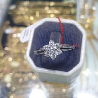 cincin emas putih 750 (23k) simple dan manis