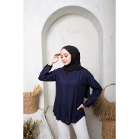 Atasan Simple Wanita Muslim | Kemeja Basic Bilga | Katun Rayon