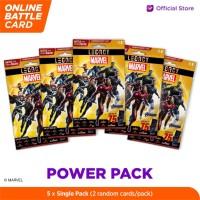 Marvel Power Pack - 5DX Legacy AR Battle Cards