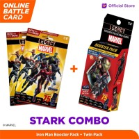 Marvel Stark Combo - 5DX Legacy AR Battle Cards