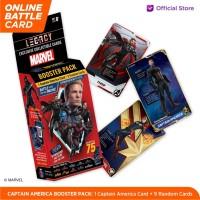 Marvel Captain America Booster Pack - 5DX Legacy AR Battle Cards