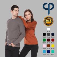 Kaos Lengan Panjang Polos Premium Full Cotton Combed 30s
