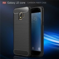 Armor Carbon TPU Case SAMSUNG GALAXY J2 CORE - Casing Black Soft Cover