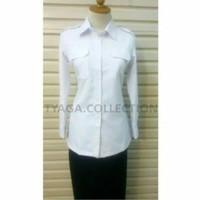 Seragam Kerja Wanita Putih Lengan Panjang Baju Pdh,Baju PNS