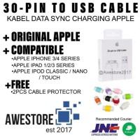 PREMIUM Kabel Data Iphone 4 4S 3 3G Ipad 1 2 Ipod Classic Nano Touch