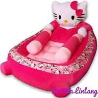Matras Kasur Bayi Karakter Hello Kitty Set Bantal Peyang Dan Guling