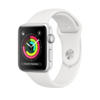 ' Apple Watch Series 3 GPS 38mm Silver Aluminium with White Sport Band
