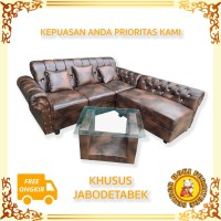 FREE ONGKIR Sofa L Putus Minimalis 100 kancing