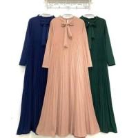 Gamis Plisket Import PREMIUM Impor Pita Mayung Jumbo Murah Long Dress