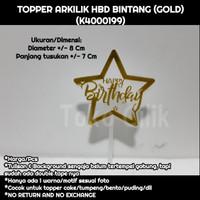 topper/arkilik/tusukan/happy birthday/bintang/gold/cake/bento/tumpeng