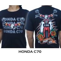 KAOS MOTOR HONDA C70 PITUNG WARNA HITAM - M
