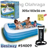 Bestway 54009 Kolam Renang Karet Anak Size Jumbo Besar 305 cm + Pompa