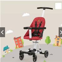Babyelle Rider Convertible Baby Elle Stroller board cabin size 1688 - Merah