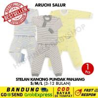 SML -1 Pcs Stelan Panjang Aruchi Baju Piyama Anak Bayi SALUR