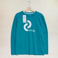 DENIZEN Levis T-Shirt Long Sleeve Original - Hijau Tosca