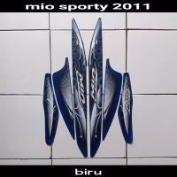 Striping sticker lis body yamaha mio sporty smile karbu lama 2011 biru