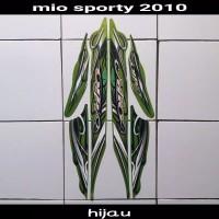 Striping sticker lis body mio sporty smile karbu lama 2010 hijau