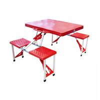 Meja Piknik Lipat Atria Hobbit Portable Picnic Table Merah - Merah
