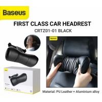 BASEUS FIRST CLASS CAR HEADREST BANTAL LEHER MOBIL CUSHIONING